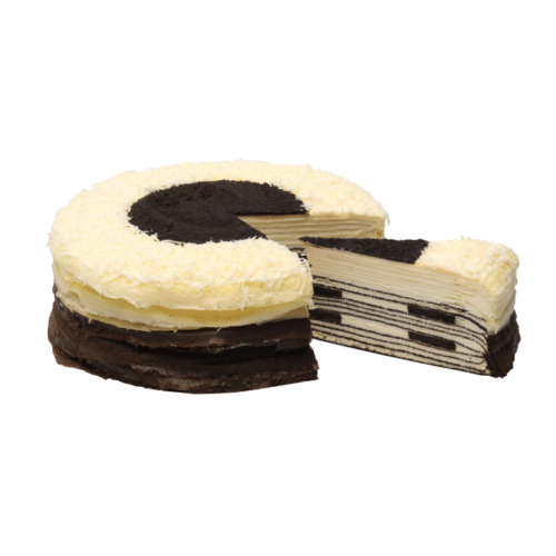Oreo-Cheese Mille Crepes – Whole